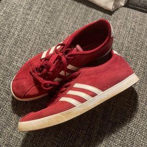 Dark Red Adidas Sneakers